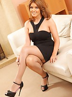 The beautiful Kelly M in black dress